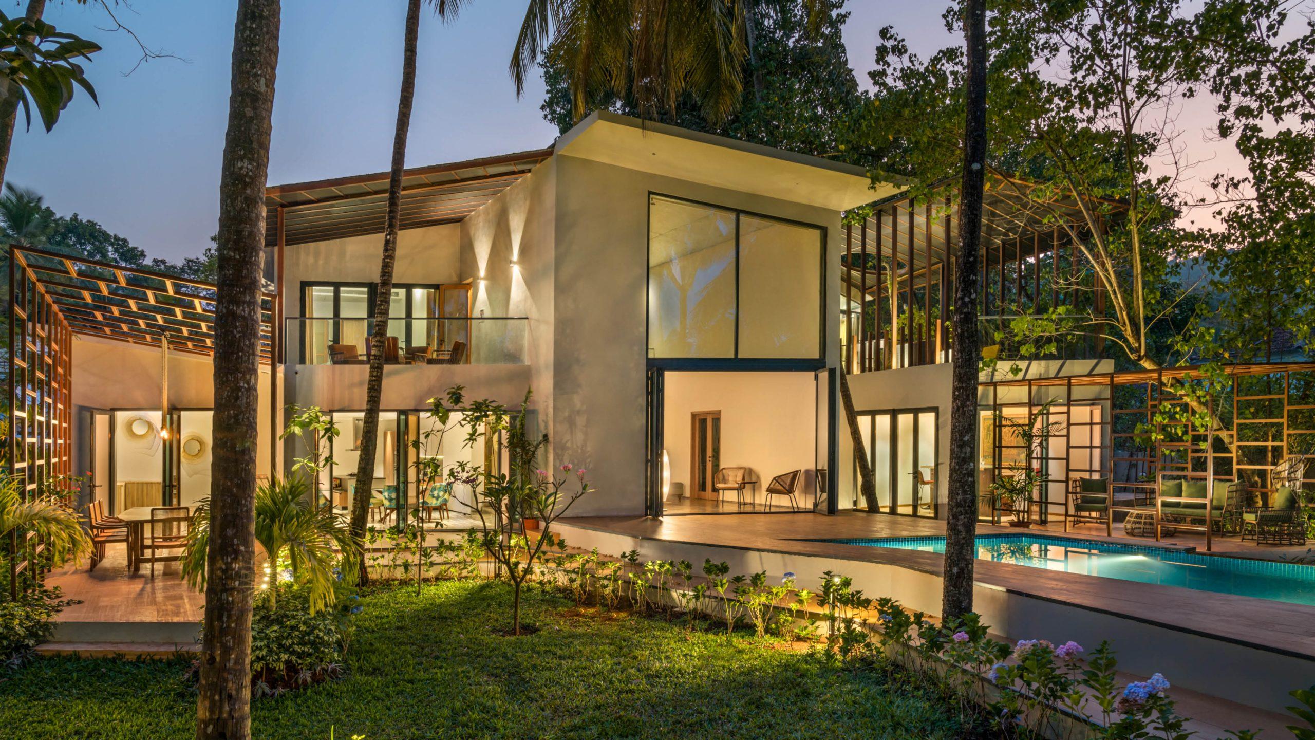 earth house luxury villa design goa